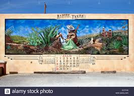 mexican mural art stock photos mexican mural art stock images old calendar mexican themed art in alpine texas stock image
