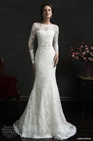 Turmec Long Sleeve Lace Fishtail Wedding Dresses