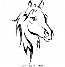 free logo design horse royalty free horse head logo by vector tradition sm 4065