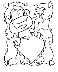 monkey colouring pages for adults coloring free download cute baby