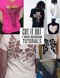 different ways to cut the ends of your hair fpto learn tons of different ways to cut up your t shirts and make