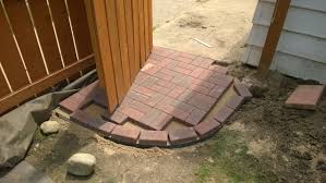 How To Cut Patio Pavers How To Cut Angles On Bricks For A Paver Border Rebrn