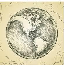world map sketch royalty free vector image vectorstock