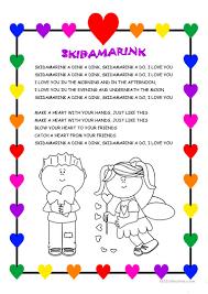 16 free esl valentine song worksheets