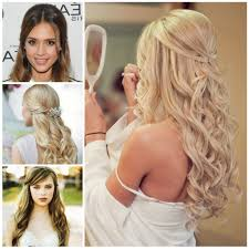 prom hairstyle 2016 half up half down popular long hairstyle idea
