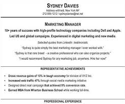 Resume Professional Statement Examples by A Href U003d