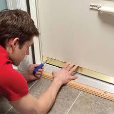 Door Bottom Sweeps For Exterior Doors How To Make Your House Warmer By Adjusting The Door Sweep
