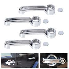 jeep wrangler 4 door silver beler 4pcs abs chrome door handle cover trim for jeep wrangler jk
