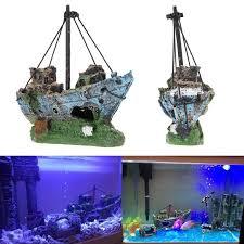 Home Aquarium Decorations Aliexpress Com Buy Sunk Ship Aquarium Ornaments Fish Tank