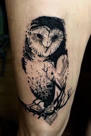 best 25 geometric owl tattoo ideas on pinterest geometric owl