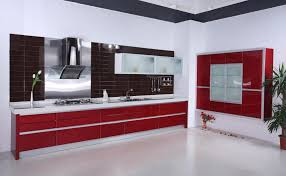 Kitchen Red Cabinets Elegance Kitchen With Red And White Kitchen Cabinets Also White