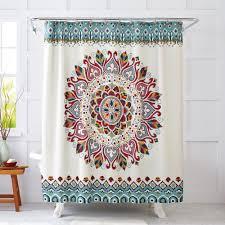 better homes decor better homes and gardens medallion fabric shower curtain walmart