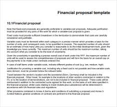 sample financial proposal template 8 free documents in pdf word