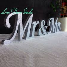 mr mrs wedding table decorations mr mrs letters wedding table decoration freestanding mr and mrs