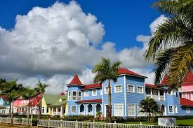 row houses pastel row houses in samaná dominican republic encircle photos