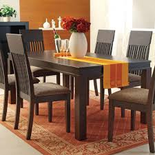 acme furniture medora espresso mission style casual dining table