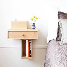Nightstand Bookshelf Very Small Diy Custom Modern Floating Bedside Nightstand Table