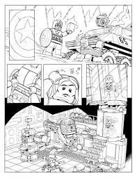 kids fun 15 coloring pages lego marvel avengers