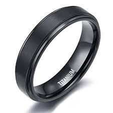 titanium wedding band 6mm 8mm titanium wedding rings black band in comfort fit matte