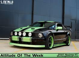 Black Mustang Grey Stripes Gt Options Package