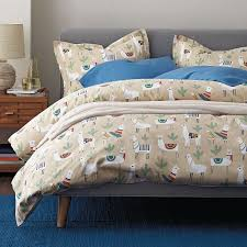 llama land 5 oz flannel duvet cover the company store
