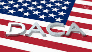 A American Flag Pictures The Word Daca On An American Flag Immigration Concept 3d