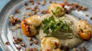jerusalem cuisine seared scallops and jerusalem artichoke puree