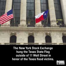 Texas State Flag Fox Business The New York Stock Exchange Flew The