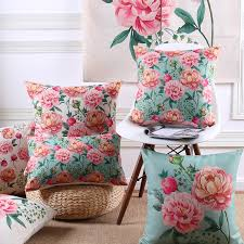 wholesales pillow cover country style shabby chic pink peony