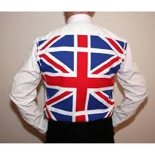 British Flag Dress Union Jack Designer Back Patterned Dress Shirt