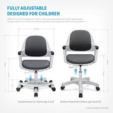 childrens kids desk chair ergonomic design with adjustable seat