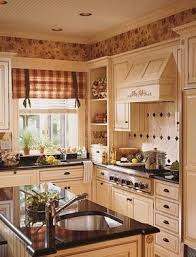 country kitchen idea black and white buffalo check window covering and window