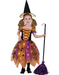 witch costume pottery barn orange and black pretty witch light up child costume megan