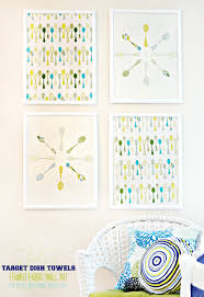 Target Wall Art by How To Make Framed Fabric Wall Art With Target Kitchen Towels