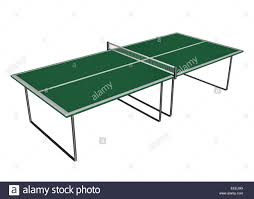 white ping pong table tennis or ping pong table isolated in white background 3d render