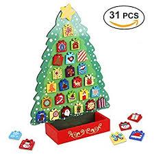 amazon com melissa u0026 doug countdown to christmas wooden advent