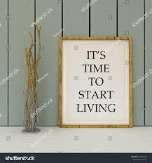 motivation words tome start living new stock illustration