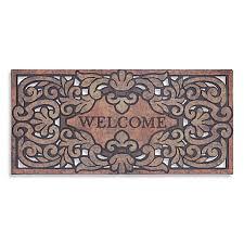 Welcome Doormats Mohawk Home Versailles 22 Inch X 47 Inch Welcome Door Mat Bed