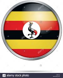 Images Of Uganda Flag Vector Ugandan Flag Button Uganda Flag In Glass Button Style With