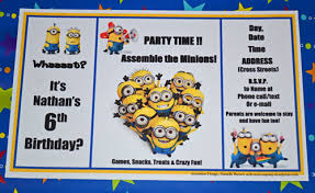 free despicable party printables company