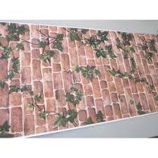 Self Stick Wallpaper by Vintage Brick Creeper Peel Stick Wallpaper Self Adhesive Wall