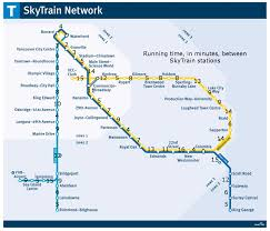 vancouver skytrain map vancouver s skytrain system mapped out in a runner way