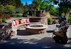 Round Stone Patio Table by Garden The Most Beautiful Ideas Of Fire Pit For Back Yard Design
