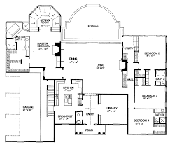 Blueprints For 4 Bedroom Homes by Four Bedroom Building Plan Home Design Ideas
