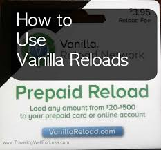 reload prepaid card online how to use vanilla reloads