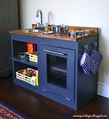 play kitchen ideas blue wood play kitchen there are only two ways to live your