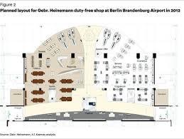 Incheon Airport Floor Plan Planned Layout For Gebr Heinemann Duty Free Shop At Berlin