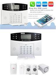 ya 500 gsm 33 lcd wireless gsm autodial alarm system