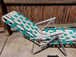 Folding Patio Chairs With Arms by Vintage Aluminum Frame Arms Webbed Folding Lawn Chaise Lounge