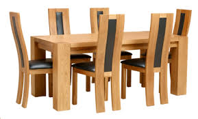 Solid Oak Dining Table And 6 Chairs Zade Solid Oak Dining Collection Queenstyle Furniture Ltd